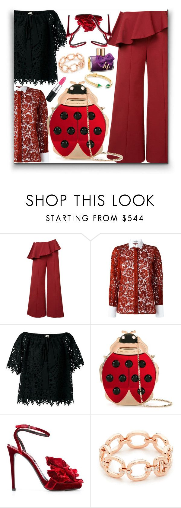 """""""Spring Palazzo!!"""" by stylediva20 ❤ liked on Polyvore featuring Rosie Assoulin, Valentino, Temperley London, Charlotte Olympia, Ermanno Scervino, EF Collection, Vita Fede and ASOS"""