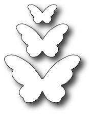 1389 Emelia Butterfly Trio craft die #butterflies