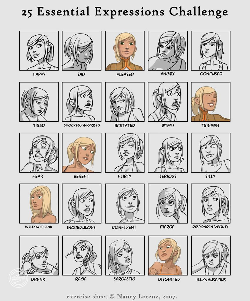 Awesome Illustrated Facial Expressions, Art Gallery