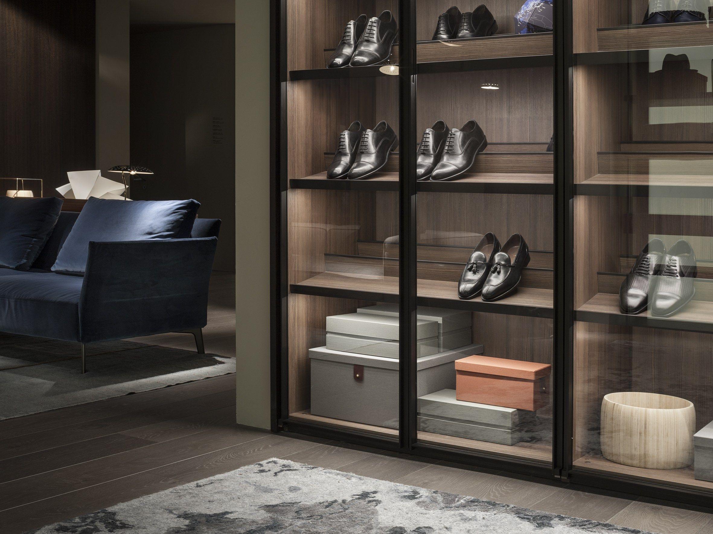 Popular Kleiderschrank aus Aluminium und Glas nach Mass ARIA by Lema Design David Lopez Quincoces