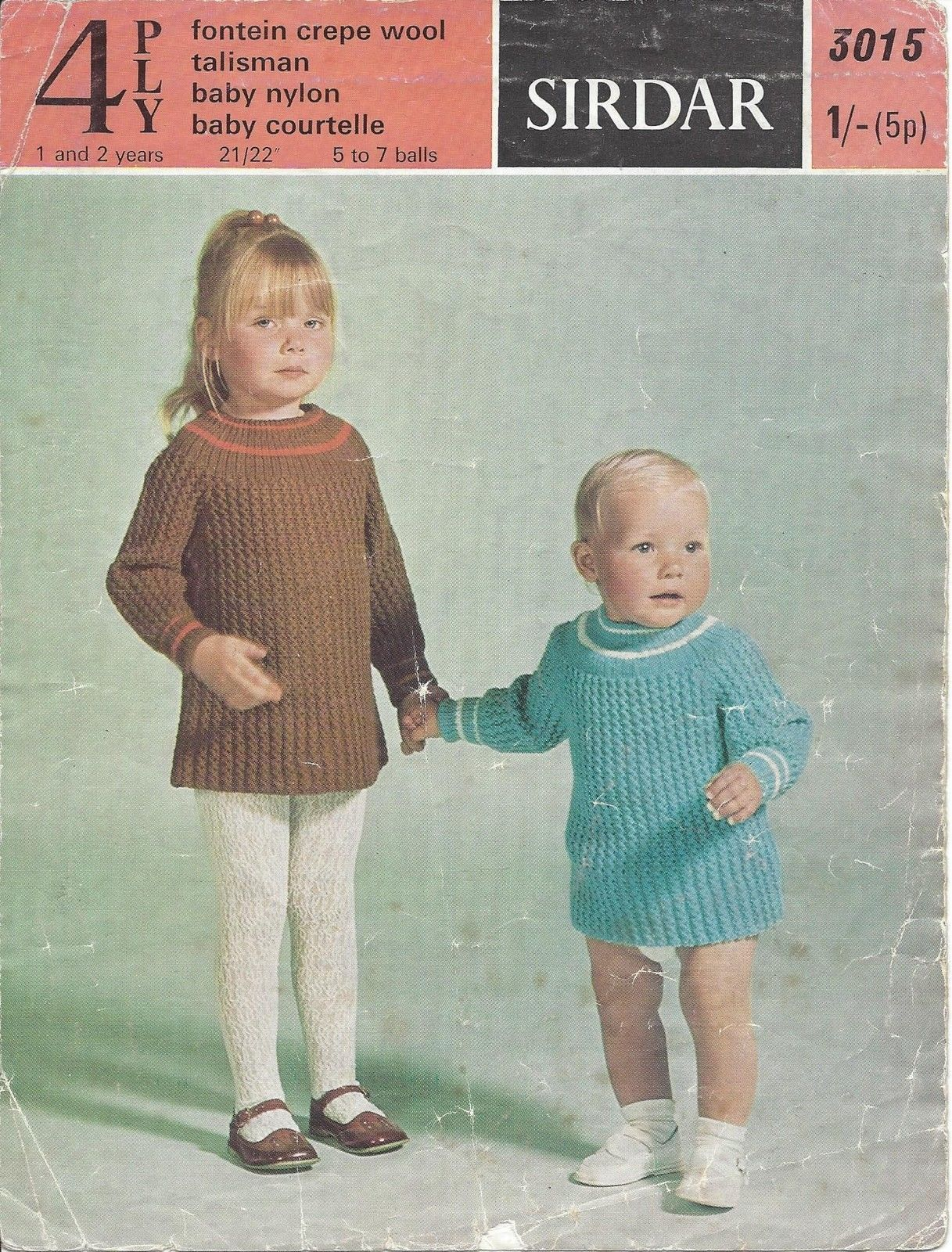 Details about vintage knitting pattern for babytoddler dress in 4 vintage knitting pattern for babytoddler dress in 4 ply ebay bankloansurffo Image collections