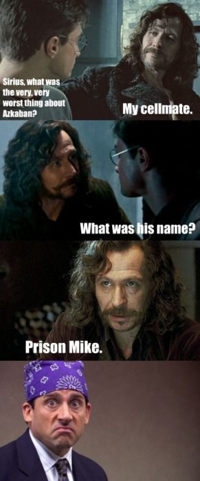 b2d30f584fdcb79a89a538e5435543d7 siriusly scary sirius black, harry potter and michael scott