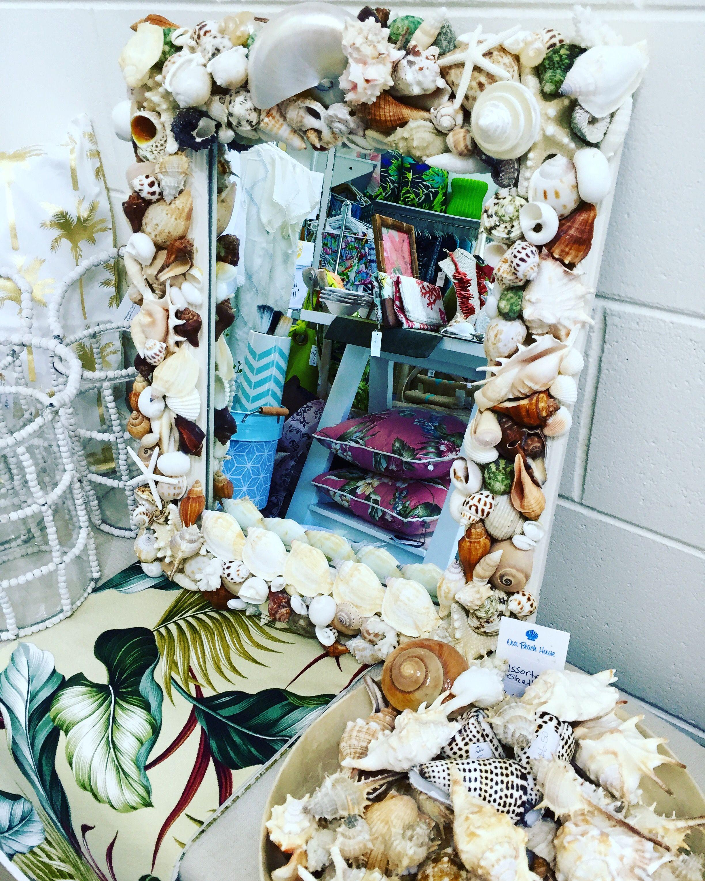 Beach House shell mirror