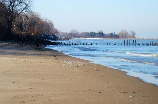 Lee Street Beach In The Fall Evanston Illinois