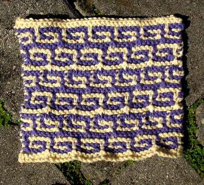 Greek Key Cloth   Dishcloth knitting patterns, Knitting ...
