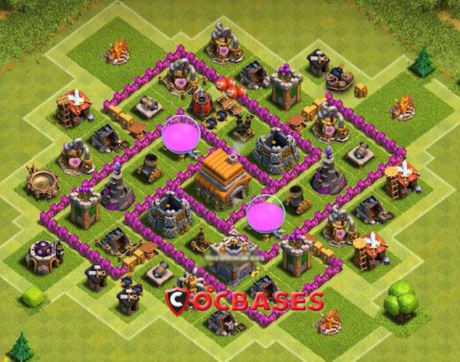 Strong Defense Town Hall 6 Base