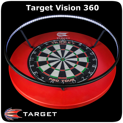 Target Vision 360 Dartboard Lighting System Degrees Led No Shadow Black