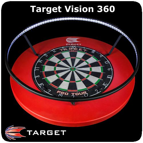 Target Vision 360 Dartboard Lighting System Degrees Led No Shadow Black