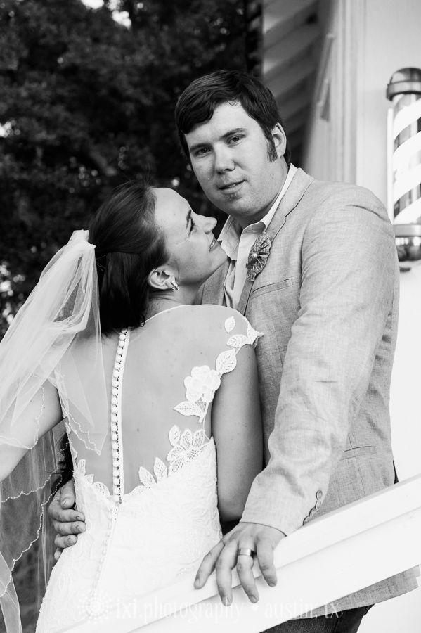 Beautiful lace back wedding dress, sheer back wedding dress. Star Hill Ranch wedding photos Austin TX