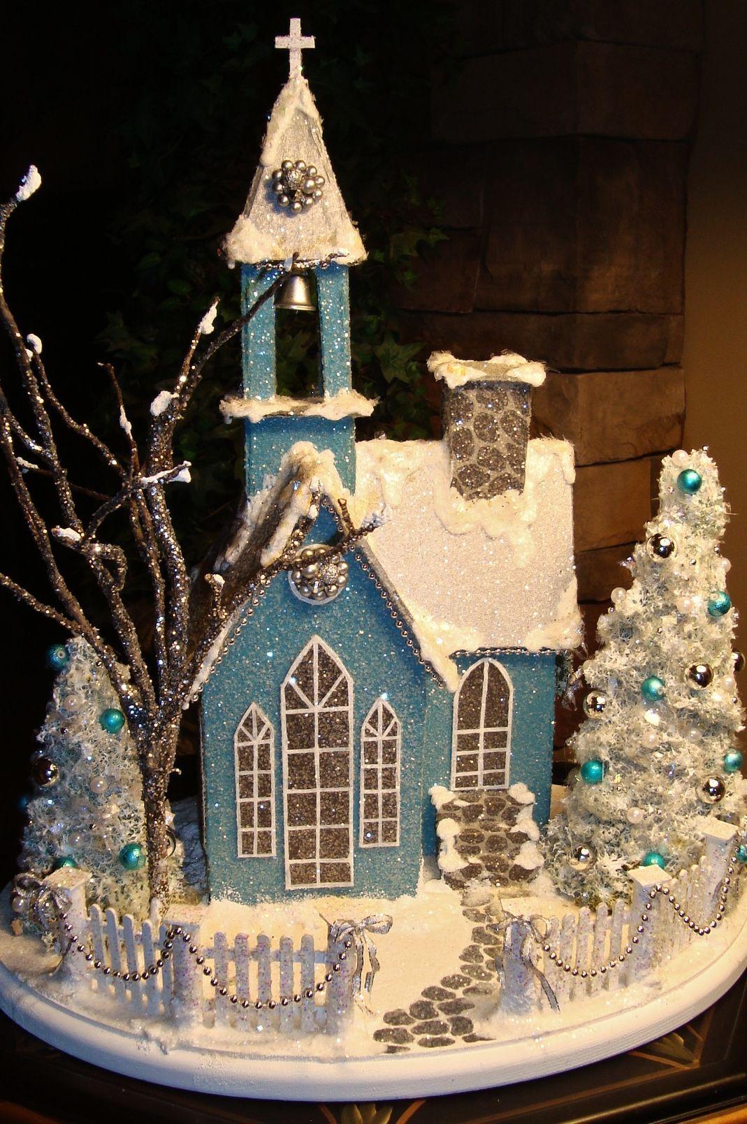 pin by lisa cain on putz housesglitter houses christmas