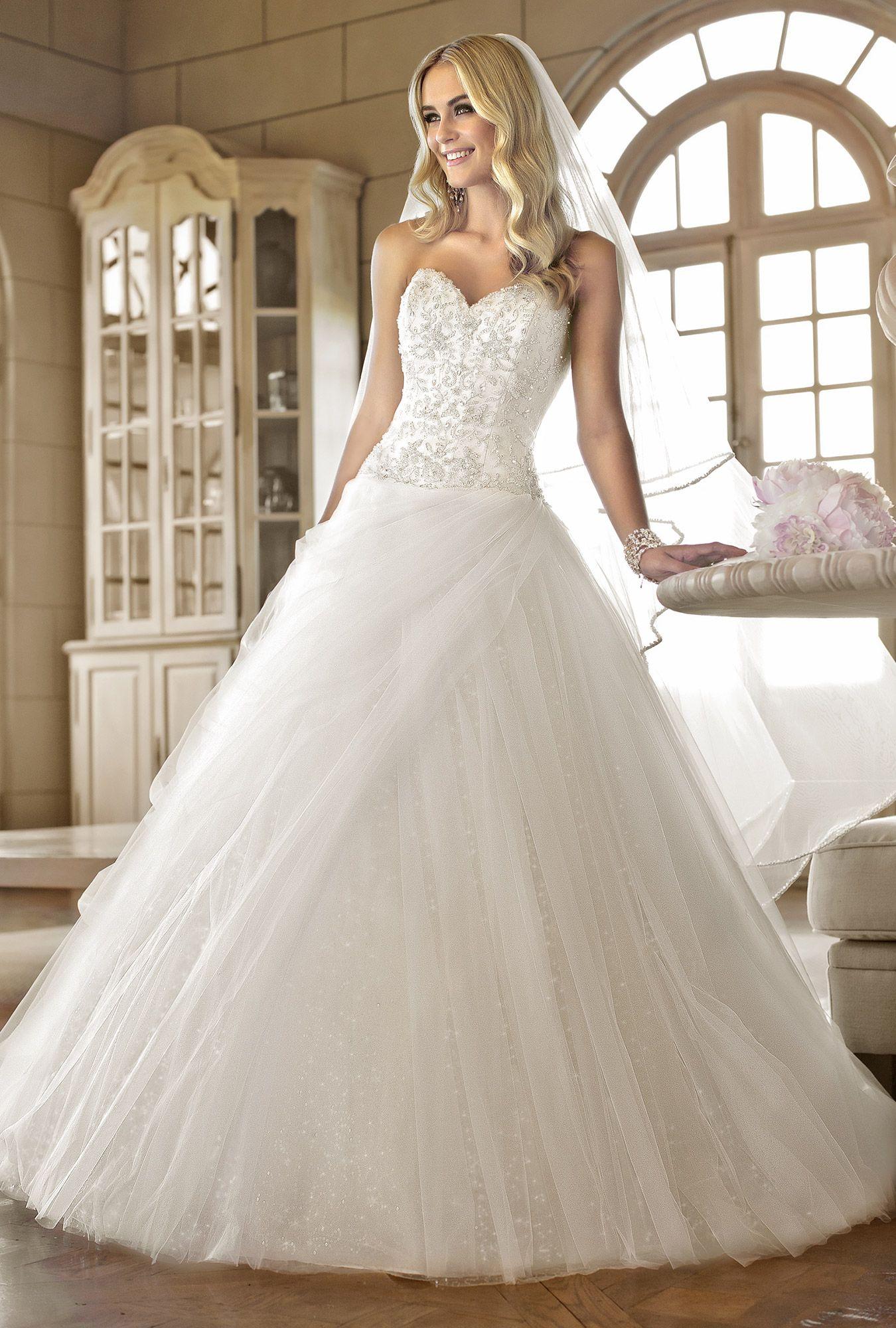 Stella york vneck wedding dress fairytale wedding dresses