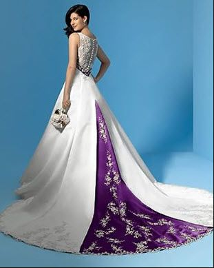 This Dress With A Red Or Emerald Green Sash Purple Wedding