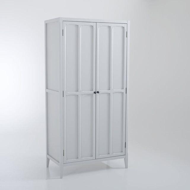 Armoire 2 portes, 4 étagères Eugénie Armoires - roulette porte coulissante placard