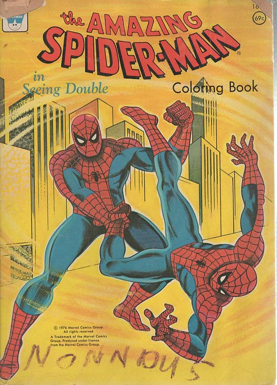 The Amazing Spider Man In Seeing Double 1976 Marvel Comics Spiderman Coloring Coloring Books Spiderman