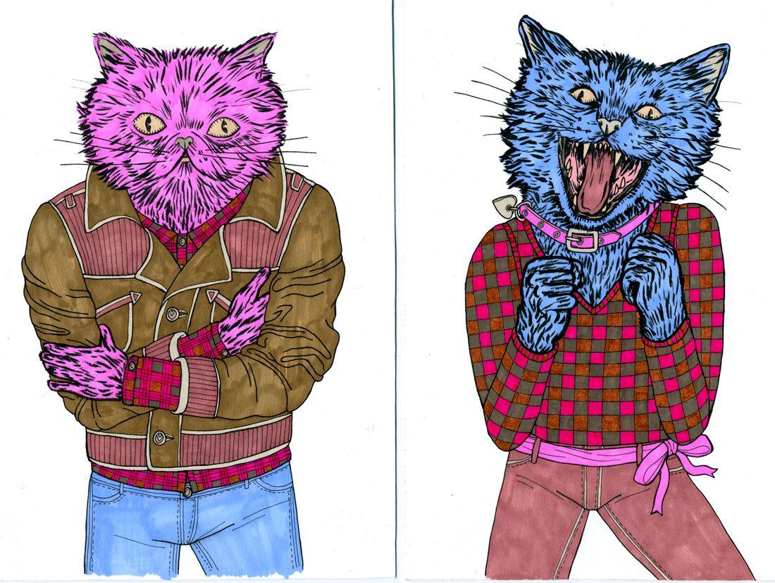 Tough Cats - Lisa Hanawalt