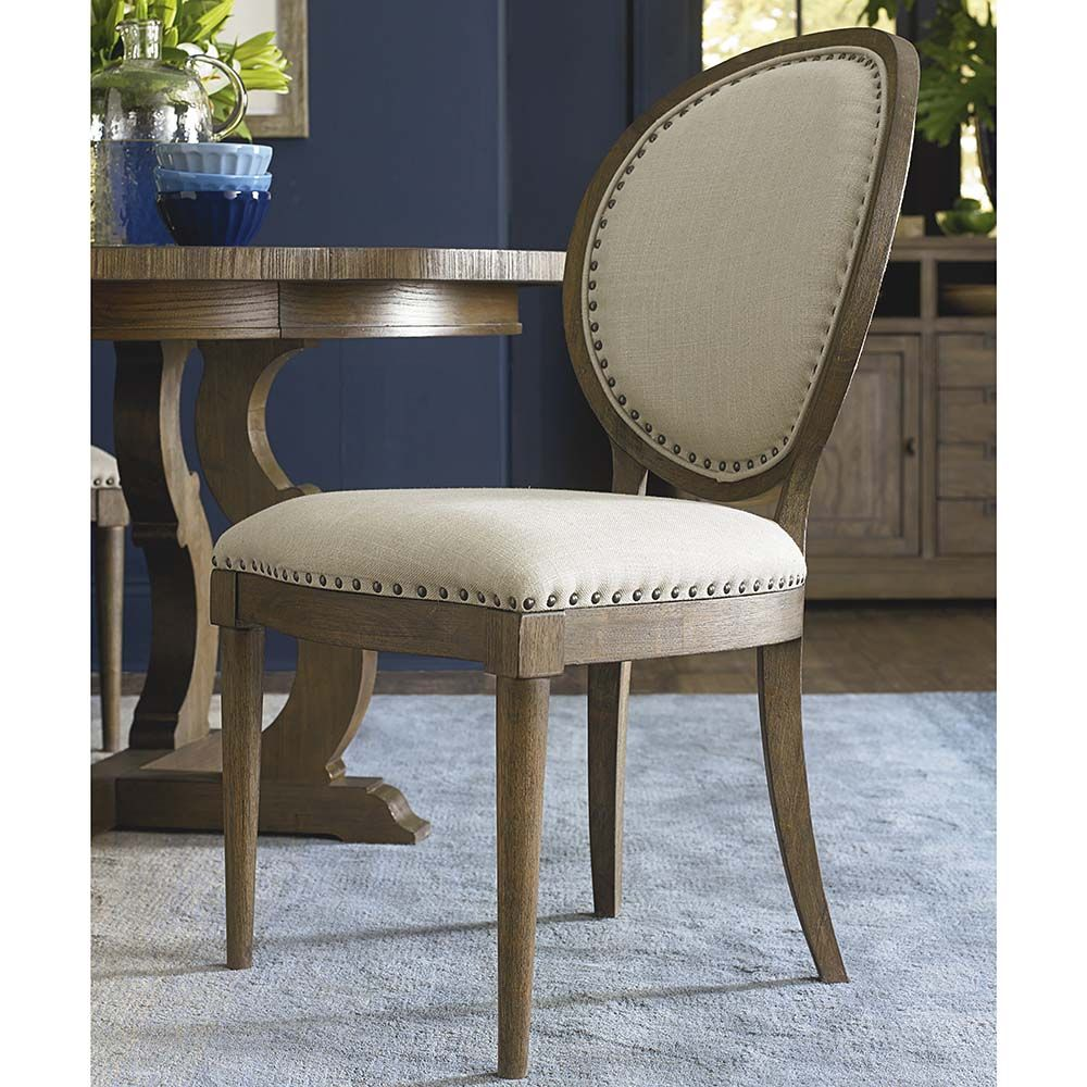 Artisanal Oval Back Side Chair Part 44