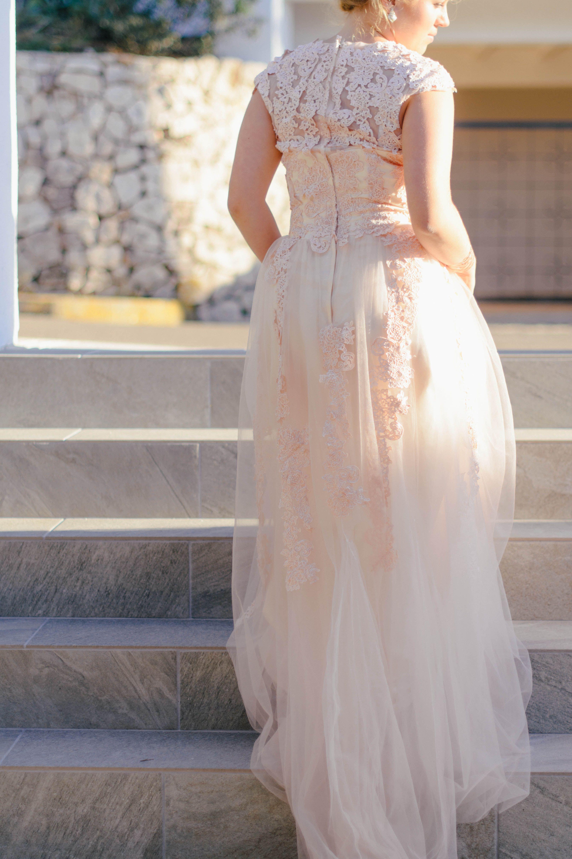 Blush wedding dress in 18  Rosa hochzeitskleid, Kleid hochzeit