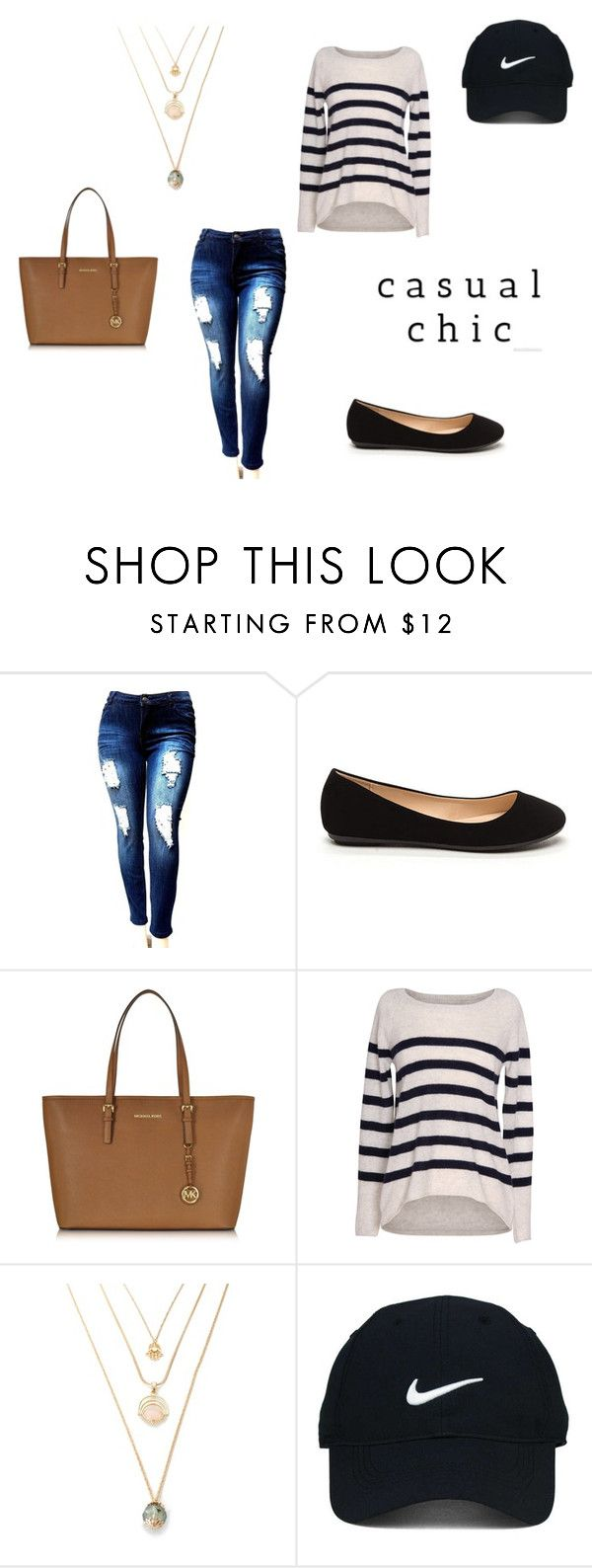 """""""Casual Chic"""" by lotsolove-1 on Polyvore featuring Michael Kors, Velvet by Graham & Spencer and Nike Golf"""