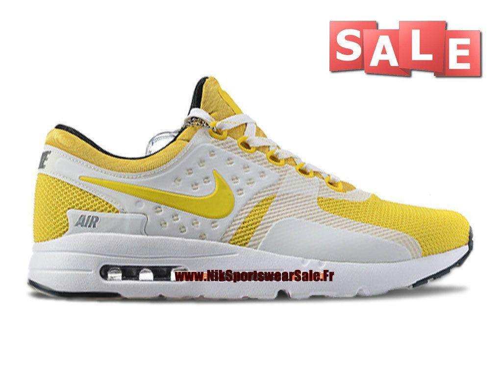 size 40 d8d59 b3c01 Nike Air Max Zero - Chaussure Mixte Nike Sportswear Pas Cher (Taille Homme)  Jaune