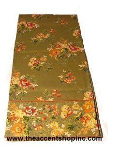 Now Designs April Cornell Russian Chintz Green Table Runner By 49 95 Machine