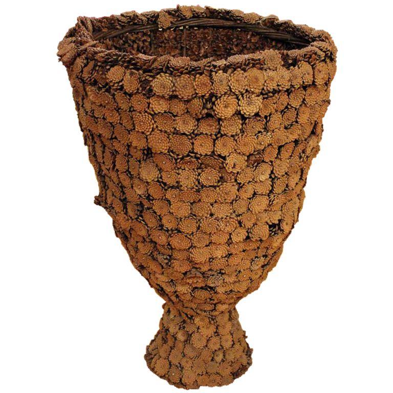 French Large Pine Cone Vase