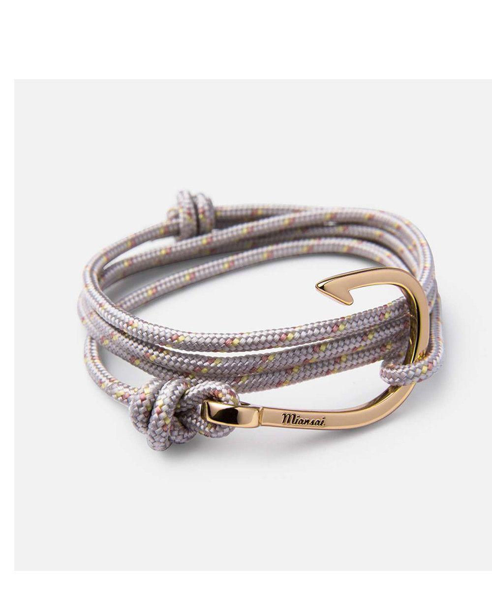 Miansai hook on rope bracelet gold plated shadow bracelets gold