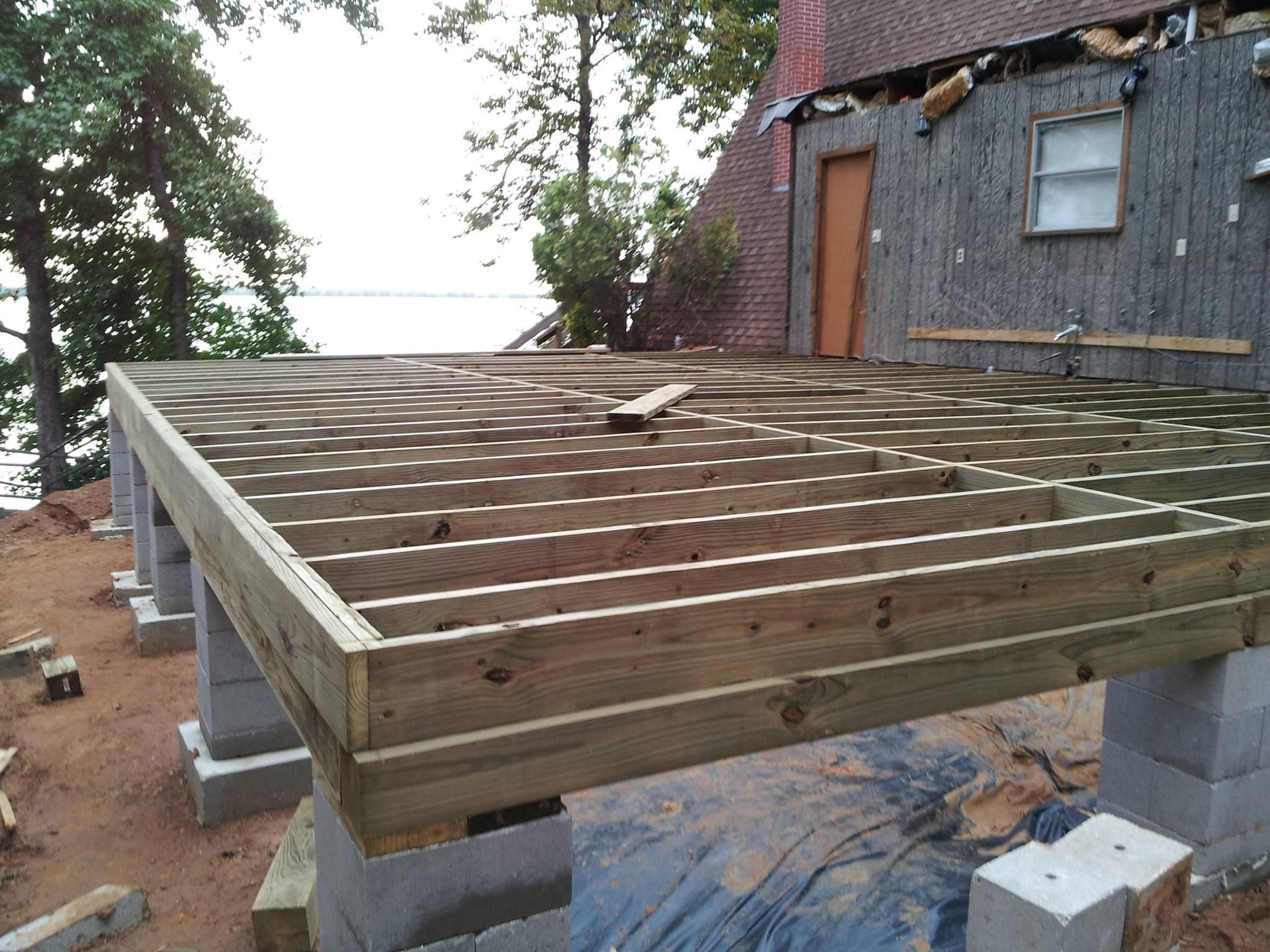 Crawlspace pier and beam foundation repair house for How to build a post and pier foundation