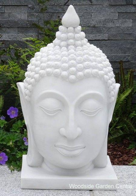 Small White Tai Buddha Head Home Or Garden Ornament 400 x 300