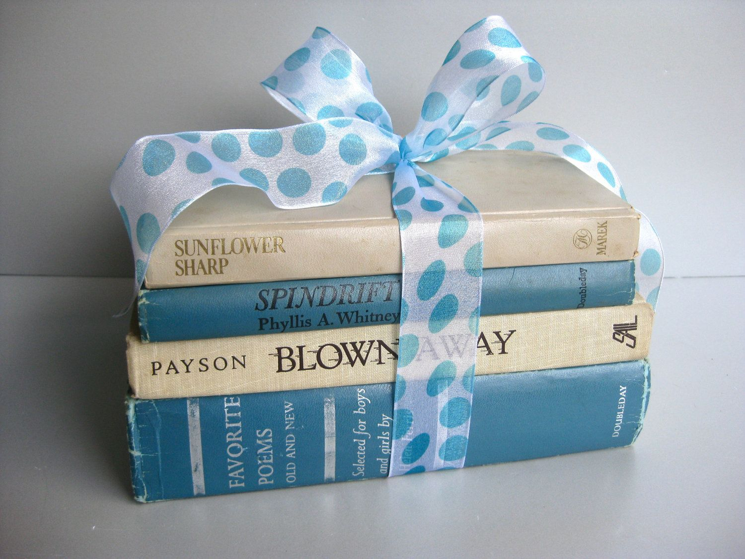 Vintage Blue Book Bundle, Beach Decor, Beach Cottage, Farmhouse ...