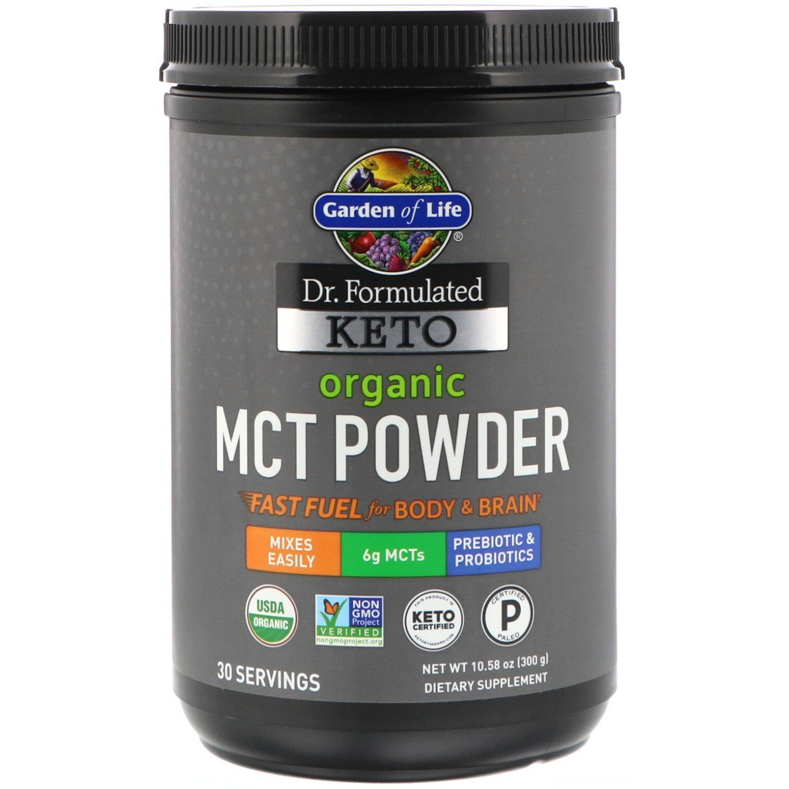 Garden of life dr formulated keto organic mct powder