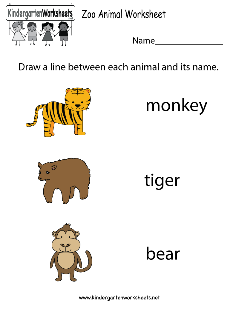 Free zoo animal worksheet for kindergarteners. This would be a great  worksheet for kids who love animals!…   Animal worksheets [ 1035 x 800 Pixel ]