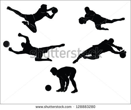 The Set Of Soccer Goalkeeper Silhouette Goalkeeper Soccer Goalie Soccer