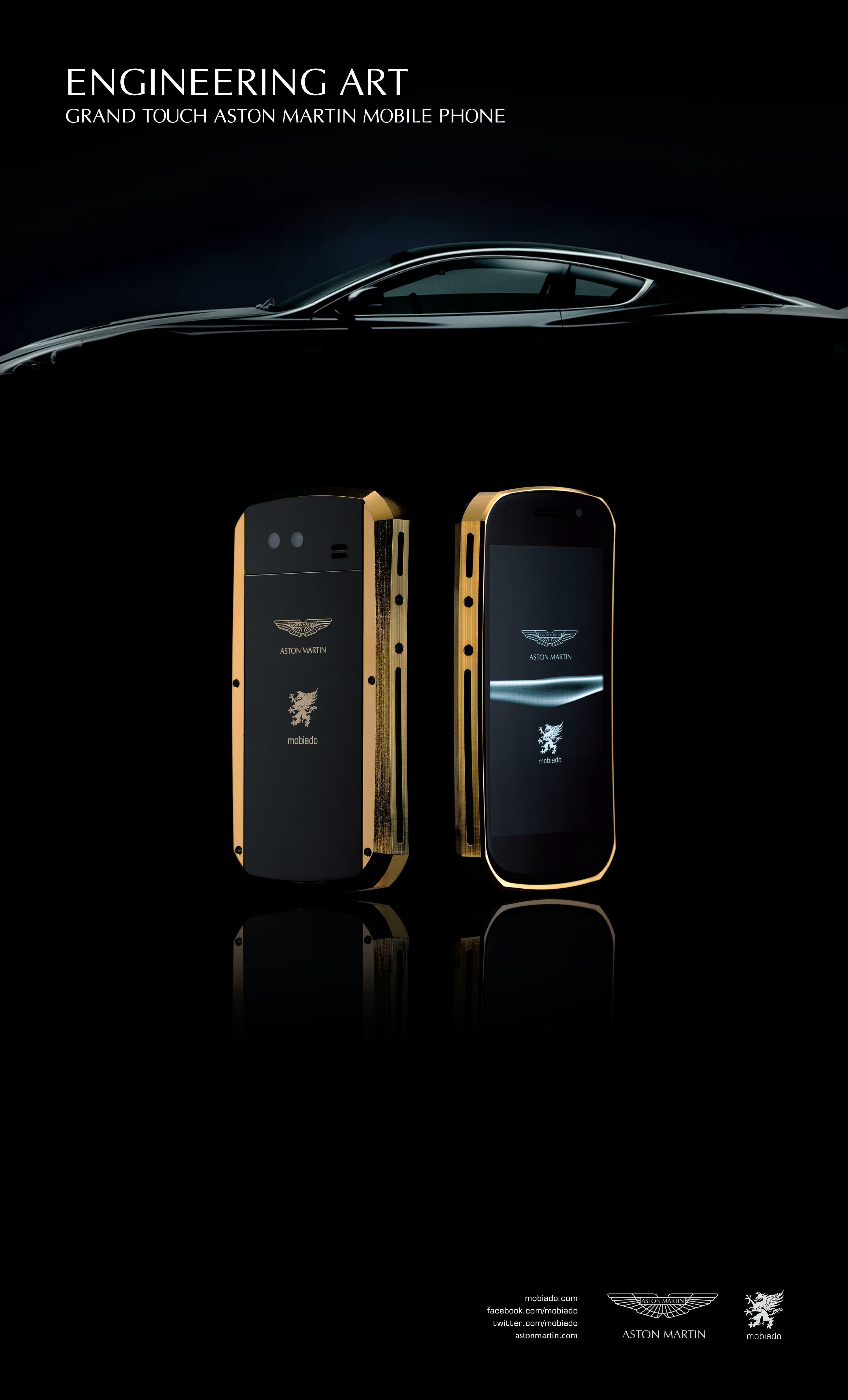 Mobiado Grand Touch Aston Martin Aston Martin Gold Phone Technology Gadgets