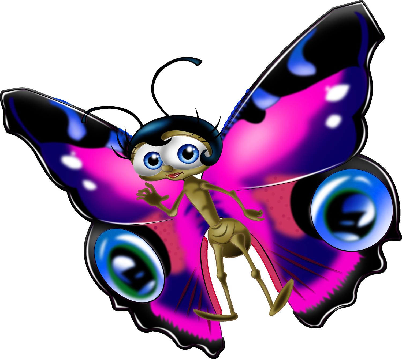 Картинки бабочек мультяшки
