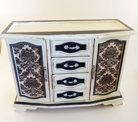 Jewelry Armoire Ladies Jewelry Box Upcycled Jewelry Chest Girls