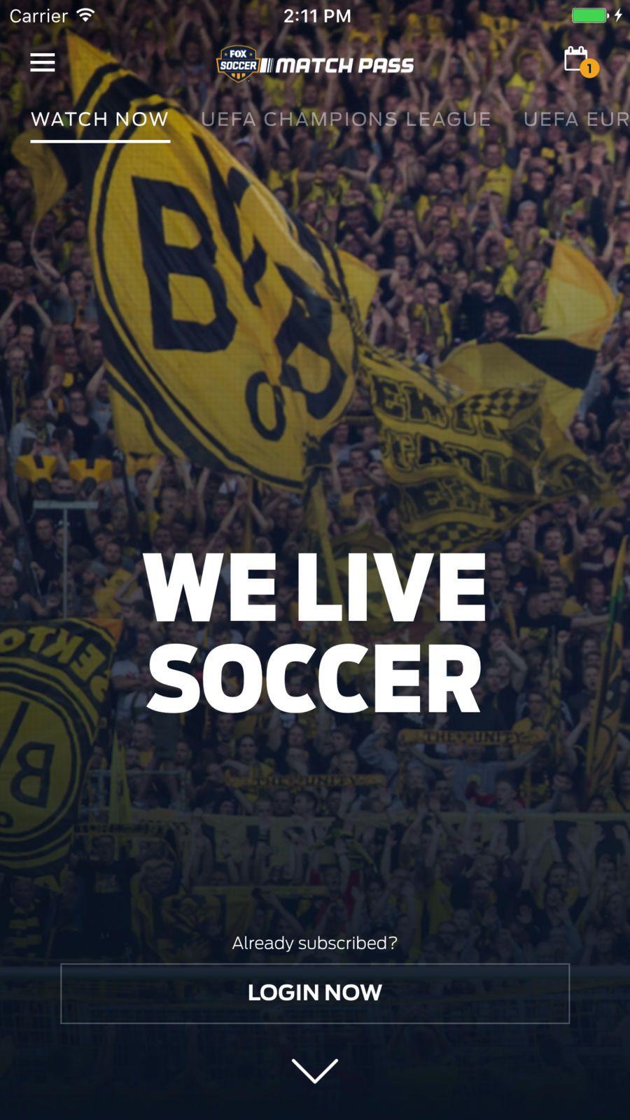 FOX Soccer Match Pass EntertainmentChannelappsios