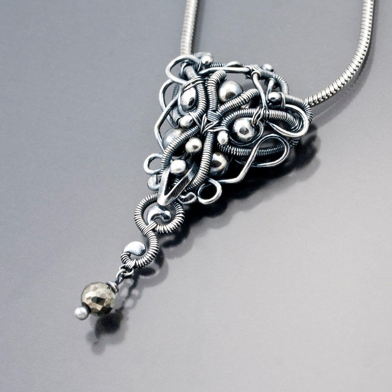 Fine Silver and Pyrite Pendant - Evenstar   Pendants, Sterling ...