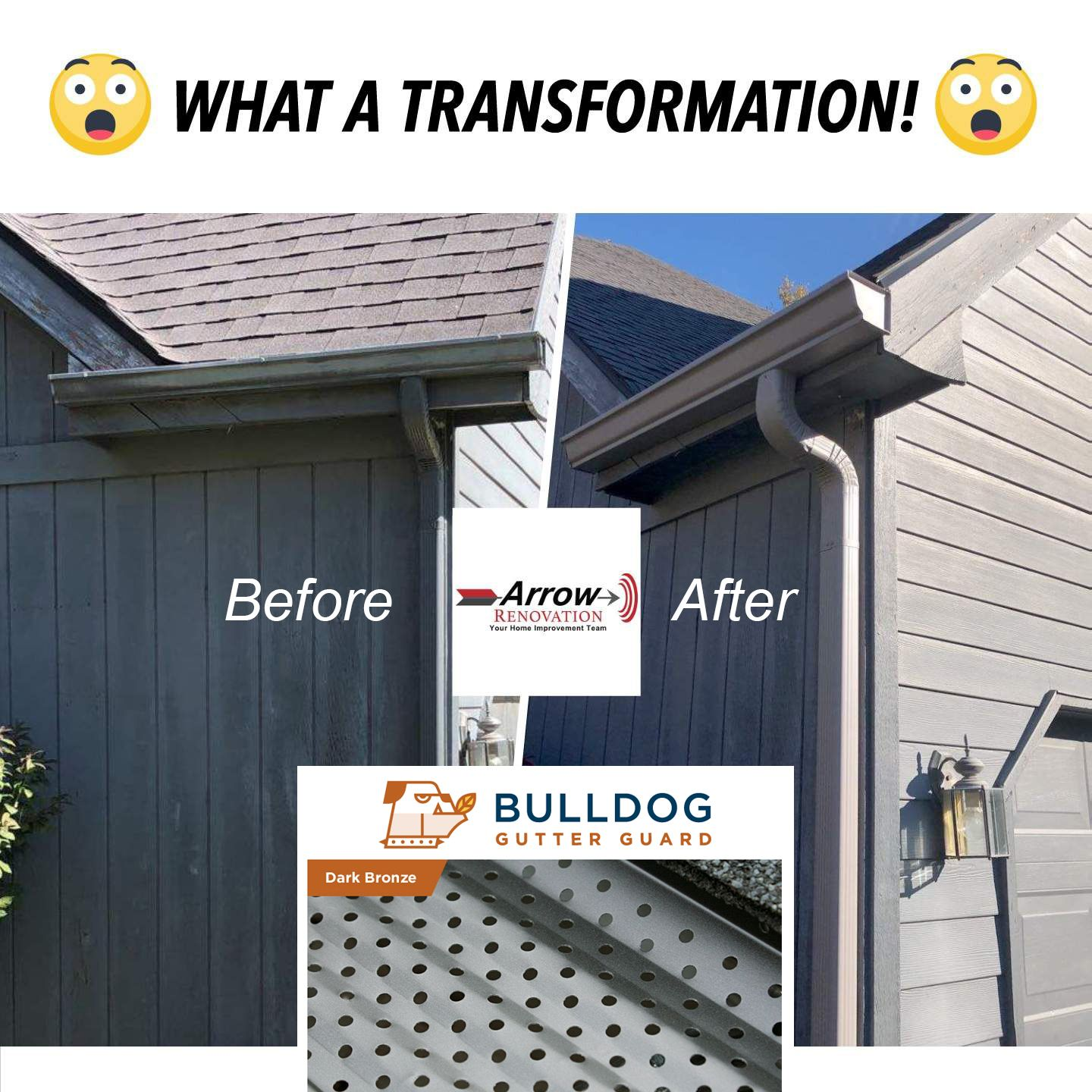 ARE LEAVES STILL STUCK IN YOUR GUTTERS? Get Bulldog gutter