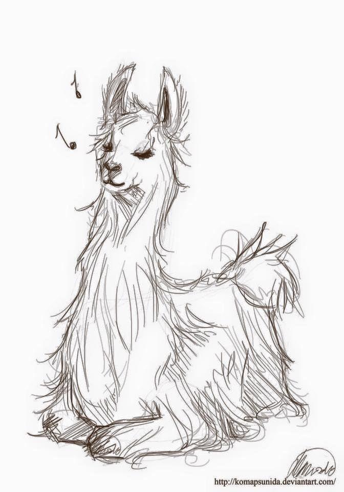 Fa La La With Images Llama Painting Animal Drawings