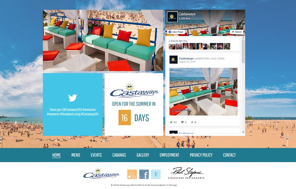 Castaways Bar And Grill Gets A New Website Web Design Firm Beach Bars Chicago Travel