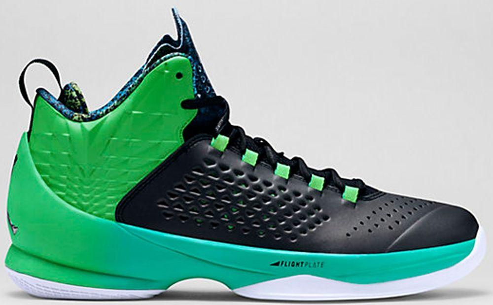 Jordan melo m11 blackblacklight green sparkretro
