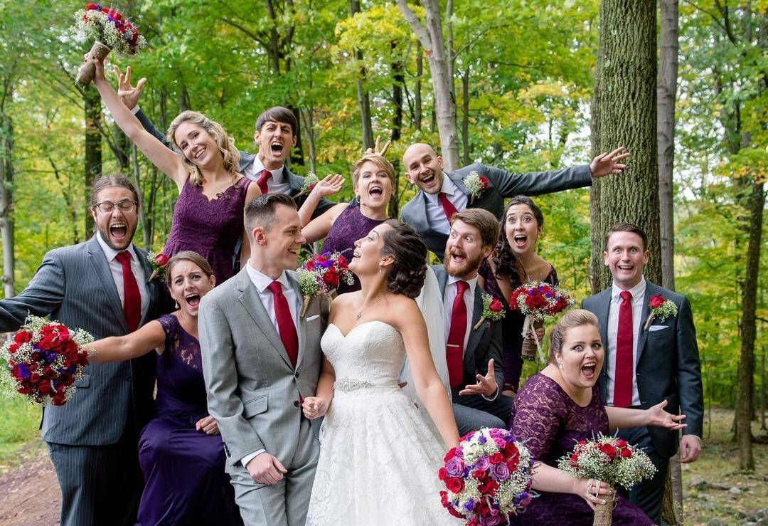 Awesomely fun wedding party? Yes please!