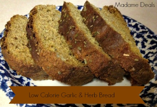 Try this #recipe for a super yummy garlic and herb bread that isn't bad for you!