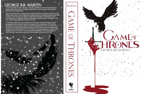graphic about Game Covers Printable identify Sport of Thrones Guide Protect Style and design upon Behance Printables