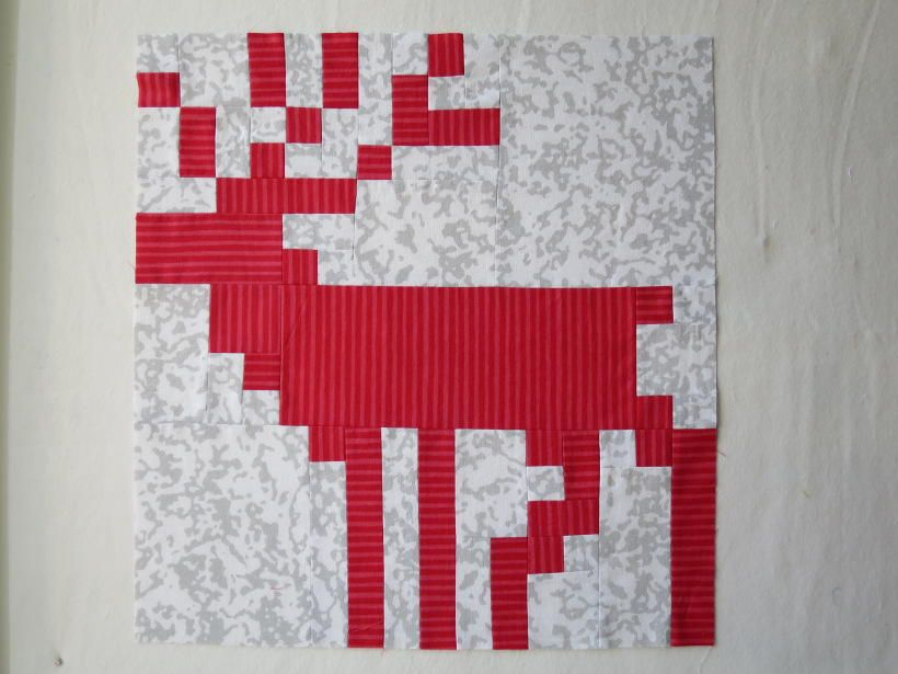 Fair Isle Reindeer Quilt Block | Fair isles, Fair isle knitting ...