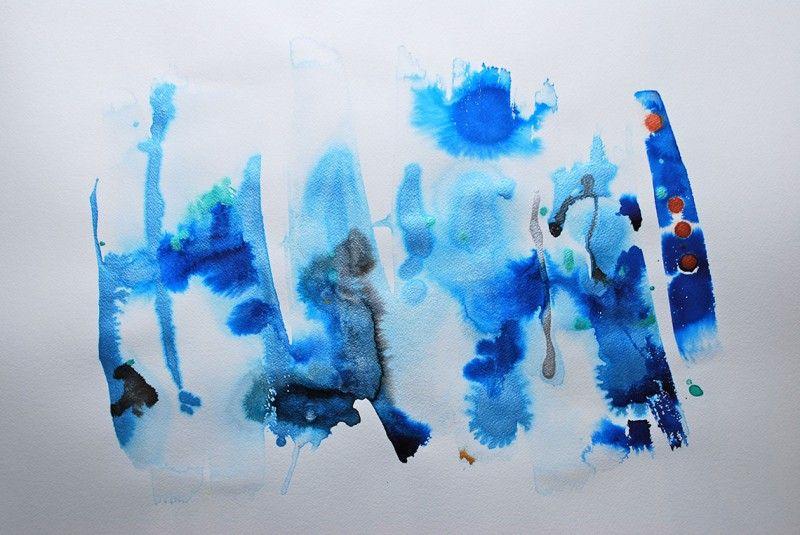 Miriam Aroeste - Happy life IV Original Work on Paper 22 x 30
