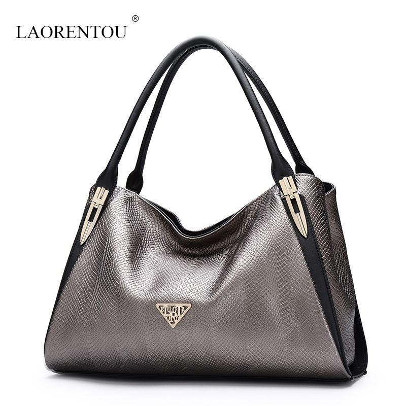 4301ecc458b LAORENTOU women Leather handbags luxury brand totes embossed casual  shoulder bag top quality ladies designer handbag