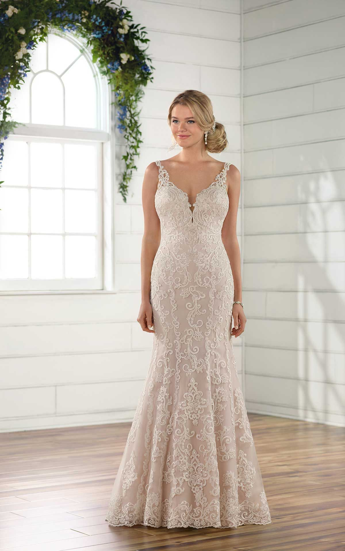 Bridal wedding dresses  Plus size wedding dress lace fit and flare wedding dress with