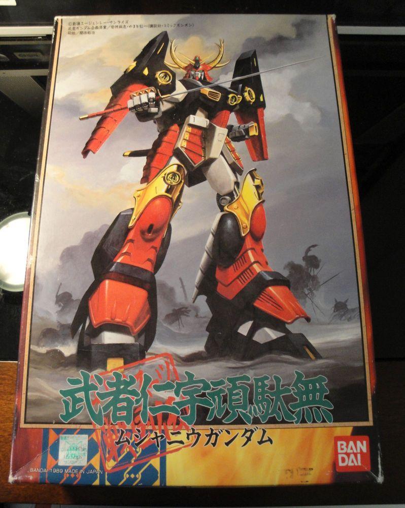 Musha Nu Gundam 1 144 Vintage 1989 Bandai Kit Oop Rare Hard To Find Original Model Kits Sd V New