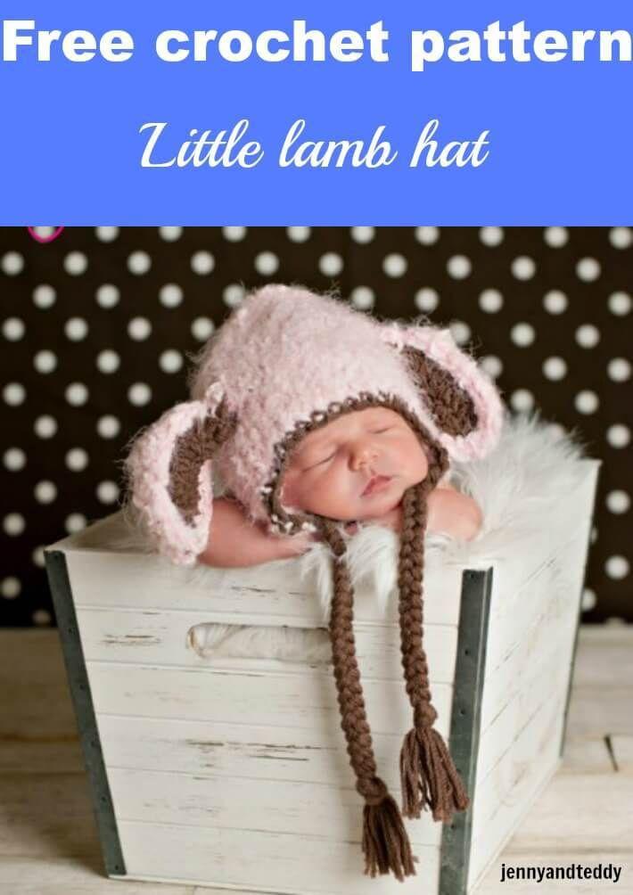 little lamb crochet hat free pattern by jennyandteddy | Crochet for ...